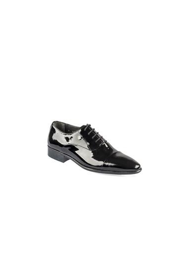 Fosco 9082 Enjeksiyon Taban Siyah Erkek (40-44) Klasik Rugan Ayakkabı Siyah